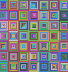 Colorful square pattern mosaic background design vector image