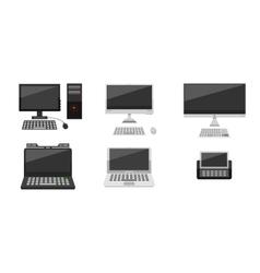 Computer evolution vector image