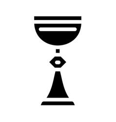 Cup goblet glyph icon black vector