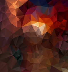 Dark brown abstract polygon triangular pattern vector