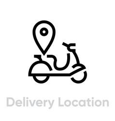 Delivery location icon editable line vector