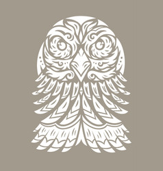 Eagle totem tattoo vector
