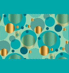 elegant style circle geometry seamless pattern vector image