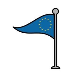 Eu patriotic flag isolated icon vector