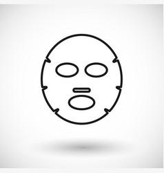 Facial mask thin line web icon vector