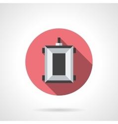 Farming trolley flat color design icon vector image