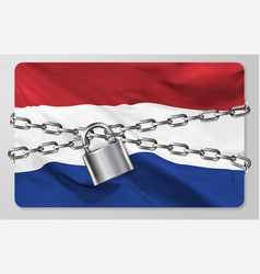flag kingdom netherlands vector image