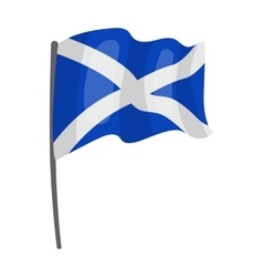 Flag of Scotland icon in cartoon style isolated on vector image