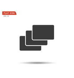 folder flat icon logo vector image