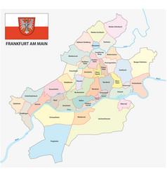 Frankfurt am main administrative and political map vector