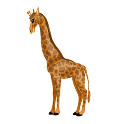 giraffe icon cartoon style vector image