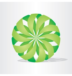 green eco ball design vector image