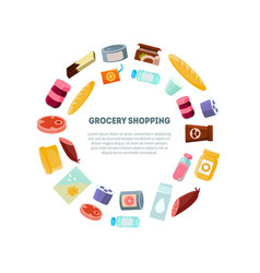 grocery shopping banner template everyday vector image