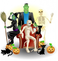 Halloween group vector