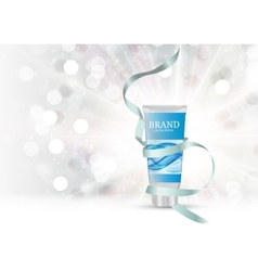 Hand care cream bottle tube template for ads or vector