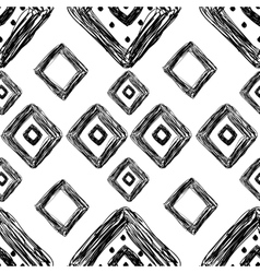 hand drawn geometric pattern vector image