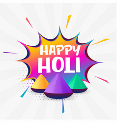 Holi festival colorful background design vector