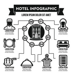 Hotel infographic concept simple style vector