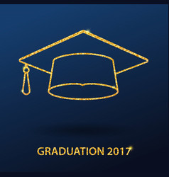 icons graduation cap vector image