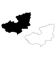 lam dong province map vector image