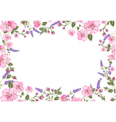 Lavender provence card vector
