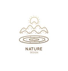 Logo outline landscape vector