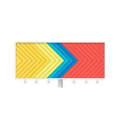 long billboard with abstract geometric pattern vector image