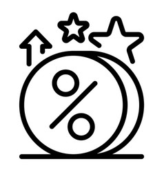Loyalty coins icon outline style vector