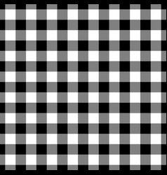 Lumberjack plaid pattern in black and white vector