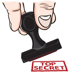 lupam pecat Top secret resize vector image