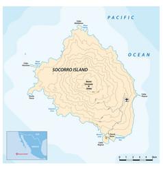 map mexican pacific island socorro vector image