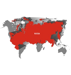 Map of Russia Design vector image