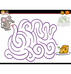 maze activity with mouse vector image