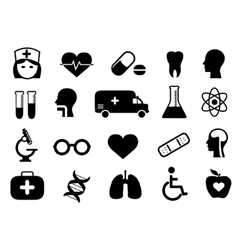 Medical and health icon set vector image vector image
