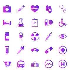 Medical gradient icons on white background vector
