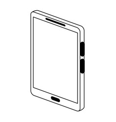 Modern cellphone with blank screen icon image vector