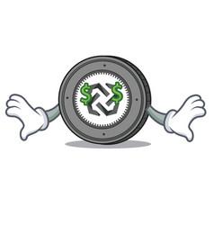 money eye bytom coin mascot cartoon vector image