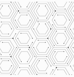 Monochrom technology seamless pattern vector