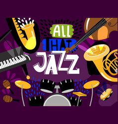 musical live jazz band concert of banner vector image