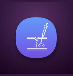 Neurotoxin injection app icon vector