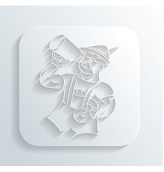 Oktoberfest man icon vector image