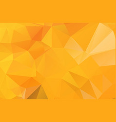 orange polygonal mosaic background geometric vector image
