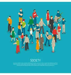 People Crowd Poster vector