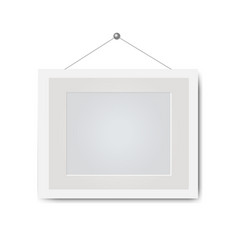 Picture frame isolated white background vector