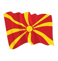 Political waving flag of macedonia vector