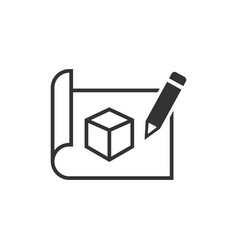 Prototype icon in flat style startup on white vector