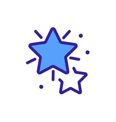 Radiance ofordinary pentagonal star icon vector