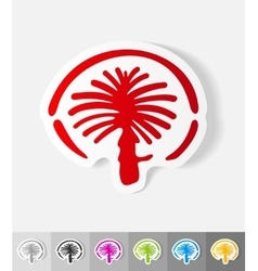 Realistic design element palm Jumeirah vector