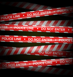 red and white danger lines do not cross vector image