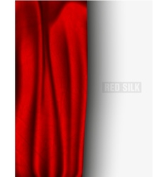 red silk with a shadow vector image